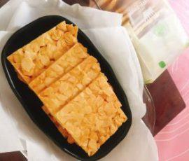 Món bánh ngói hạnh nhân cho ngày Tết