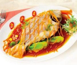 Món cá hấp xì dầu ngọt thịt tốt cho sức khỏe