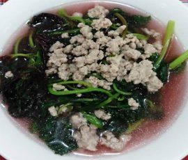 Món canh rau dền thịt băm ngọt mát dễ làm