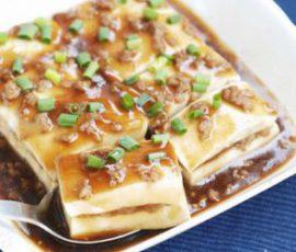 Món đậu hủ hấp tương thanh đạm bổ dưỡng
