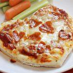 Món Pizza hình trái tim cho ngày tình nhân