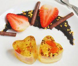 Món rau câu trái tim cho Valentine thêm ngọt ngào