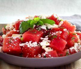 Salad dưa hấu ngọt mát giàu vitamin