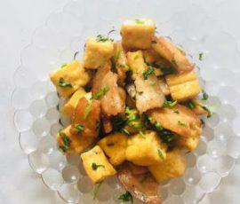 Món thịt heo rang đậu hũ đơn giản mà ngon cơm