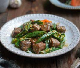 Món đậu bắp xào thịt bò bổ dưỡng dễ làm