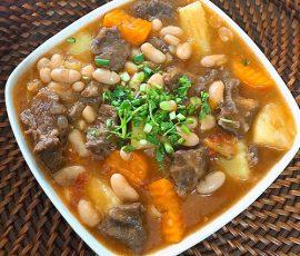 Món bò hầm đậu trắng bổ dưỡng tốt cho sức khỏe