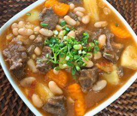 Món bò hầm đậu trắngbổ dưỡng tốt cho sức khỏe