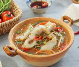 Món canh cá diêu hồng nấu măng chua ngon