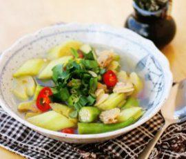Món canh chua nghêu đơn giản ngon cơm