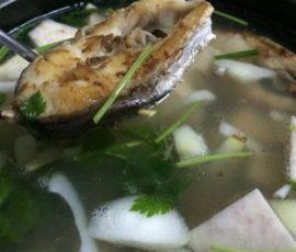 Món lẩu cá chẽm thơm ngon đậm đà