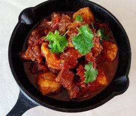 Món bò om đậu cà chua mềm thơm lạ miệng
