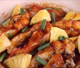 Món cá basa kho dứa đậm vị đưa cơm ngày mưa