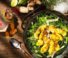 Món chả cá Lã Vọng chuẩn vị Hà Nội tại nhà