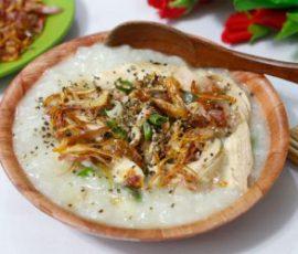 Món cháo gà hạt sen bổ dưỡng cho cả nhà