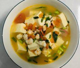 Món canh đậu hũ nấu tôm ngon mát tự nhiên