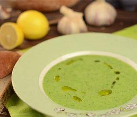 Món súp đậu hà lan rau chân vịt đổi vị cho bé