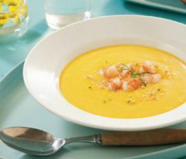 Món súp tôm bí đỏ bổ dưỡng cho bé ăn dặm