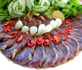 Món thịt bò ngâm nước mắm chua ngọt