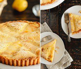 Món bánh Tart lê hạnh nhân cực ngon hấp dẫn
