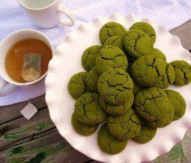 Món bánh quy trà xanh bằng nồi chiên không dầu