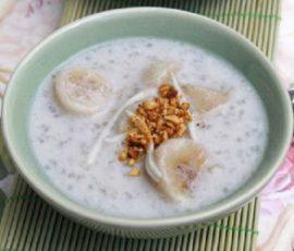 Món chè chuối cốt dừa thơm ngon béo ngậy