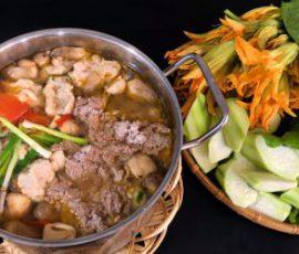 Món lẩu cua đồng hột vịt lộn không tanh lại bổ dưỡng
