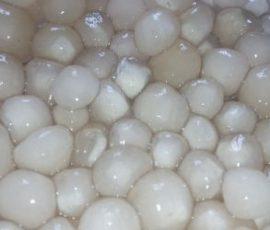 Món trân châu nhân dừa trắng trong dẻo dai