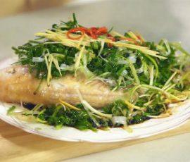 Món cá diêu hồng hấp nước tương ngon đúng điệu