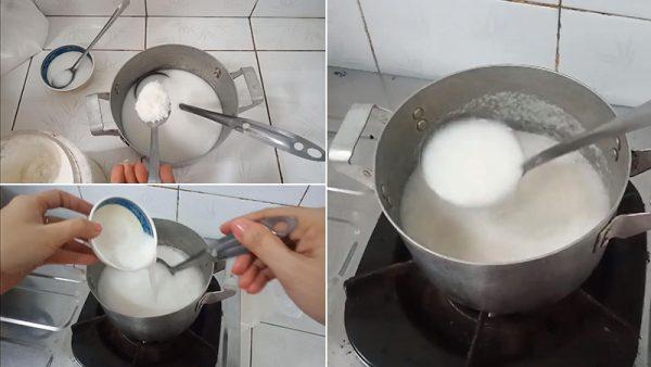 Pha nước cốt dừa