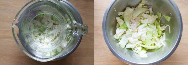 Đặt một cốc nước lên trên thố bắp cải