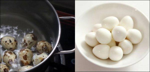 Sơ chế phần trứng cút