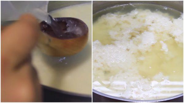 Kết tủa sữa đậu nành để thành đậu hũ