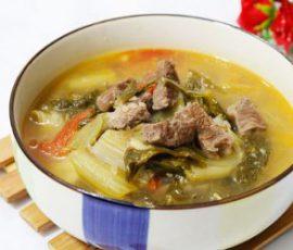 Món canh dưa chua thịt bò thơm ngon