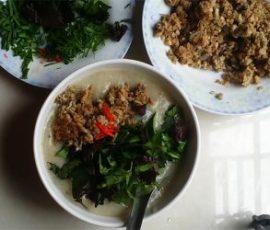 Món cháo cá chép đậu xanh thơm bùi không tanh