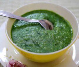 Món cháo gà ác rau ngót bổ dưỡng cho bé