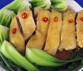 Món gà hấp cải thìa mềm ngon ngọt thịt