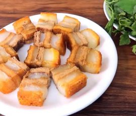Món thịt heo quay chay da giòn đơn giản tại nhà