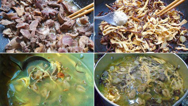 Nấu nước súp
