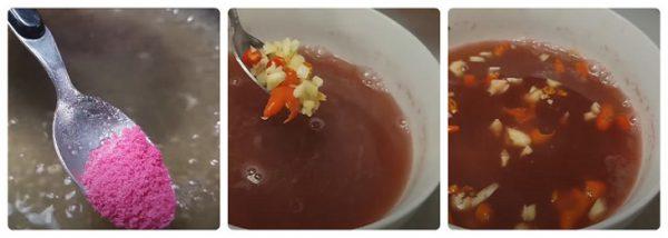 Làm nước sốt phở chua