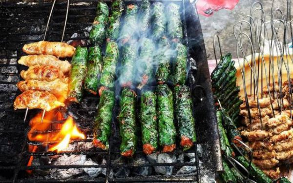 Nướng thịt trâu