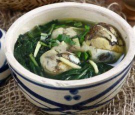 Món trứng vịt lộn hầm ngải cứu giúp tăng cân