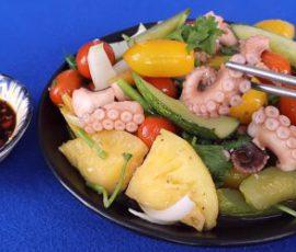 Món bạch tuộc xào thập cẩm vừa ngon vừa bổ dưỡng