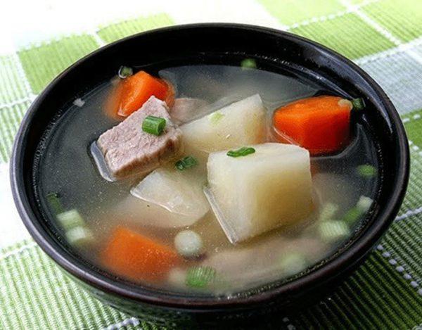 Món canh củ đậu hầm sườn thanh mát ngon ngọt