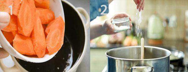Thêm cà rốt rồi nêm nếm lại gia vị