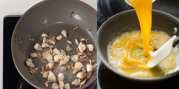 Xào trứng và xào thịt cua
