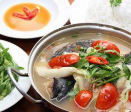 Món lẩu cá lăng măng chua ngon tuyệt tại nhà