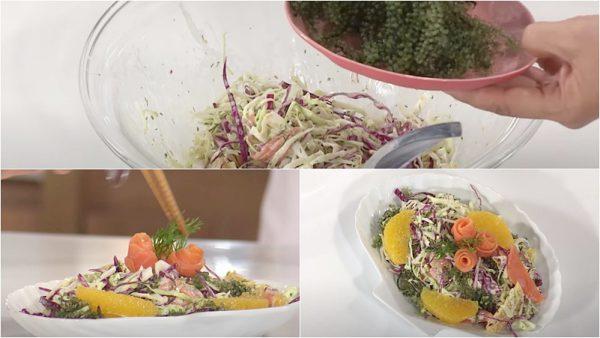 Món salad cá hồi rong nho ngon miệng giàu dưỡng chất