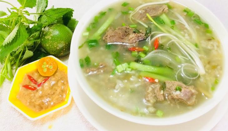 Món cháo dê đậu xanh thơm ngon bổ dưỡng