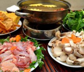 Món lẩu gà ngải cứu bổ dưỡng giúp giải ngán