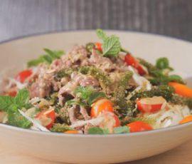 Món salad bắp cải rong nho cực tốt cho sức khỏe
